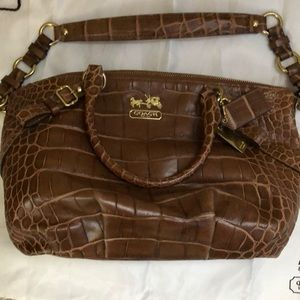 Coach Madison Embossed Exotic Sophia